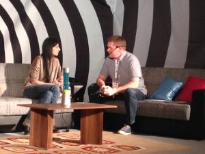 Katia Saalfrank mit Markus Hövener auf der SEO Campixx